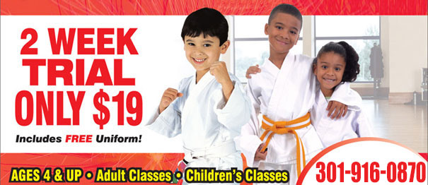Get a 2 Week Trial for Only $19! Includes a Free Uniform! Ages 4 & Up, Adult Classes, Children's Classes